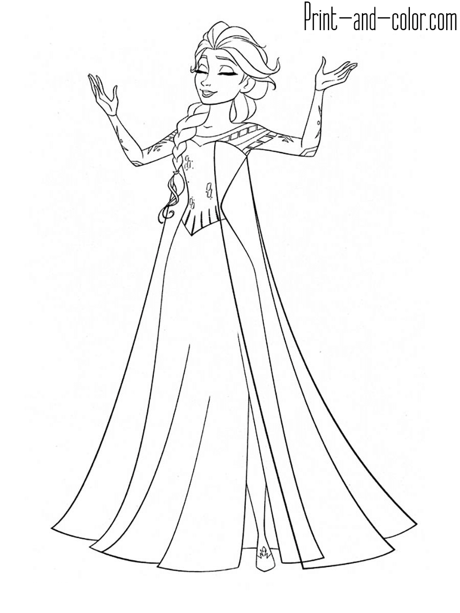free printable coloring pages of elsa from frozen free printable elsa coloring pages for kids best free printable from pages coloring elsa frozen of