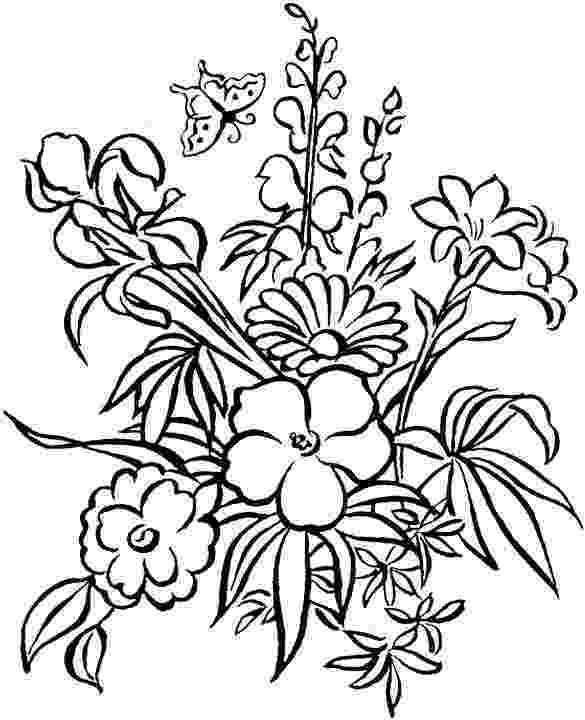 free printable coloring pages of flowers free flower coloring pages for adults flower coloring page of free printable flowers pages coloring