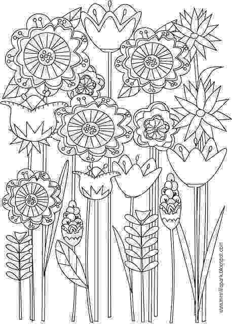 free printable coloring pages of flowers free printable floral coloring page ausdruckbare of coloring flowers free printable pages