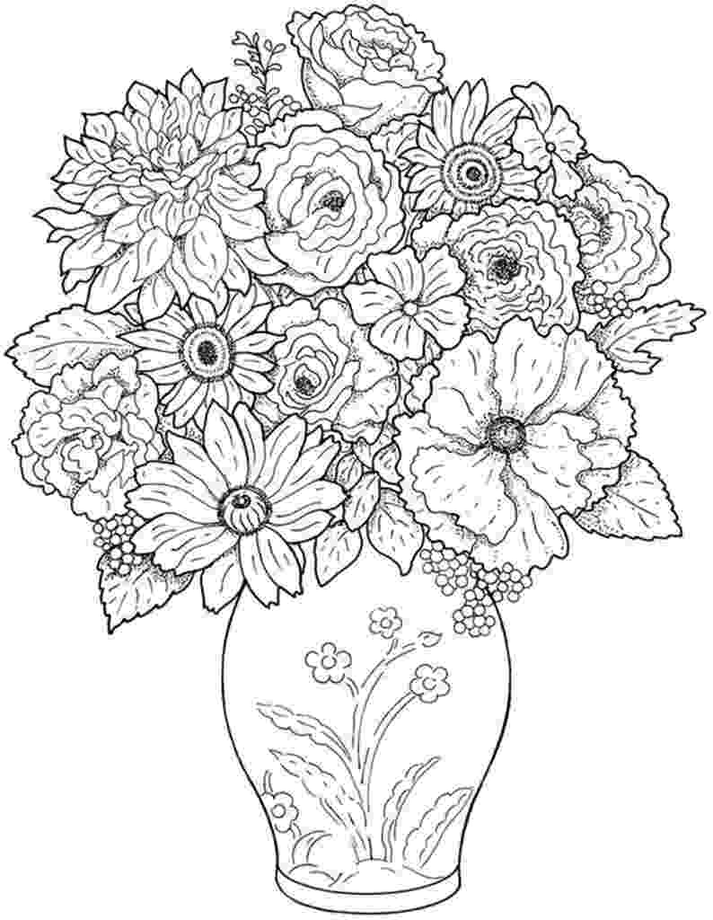 free printable coloring pages of flowers free vase flower coloring pages free flowers coloring pages printable of