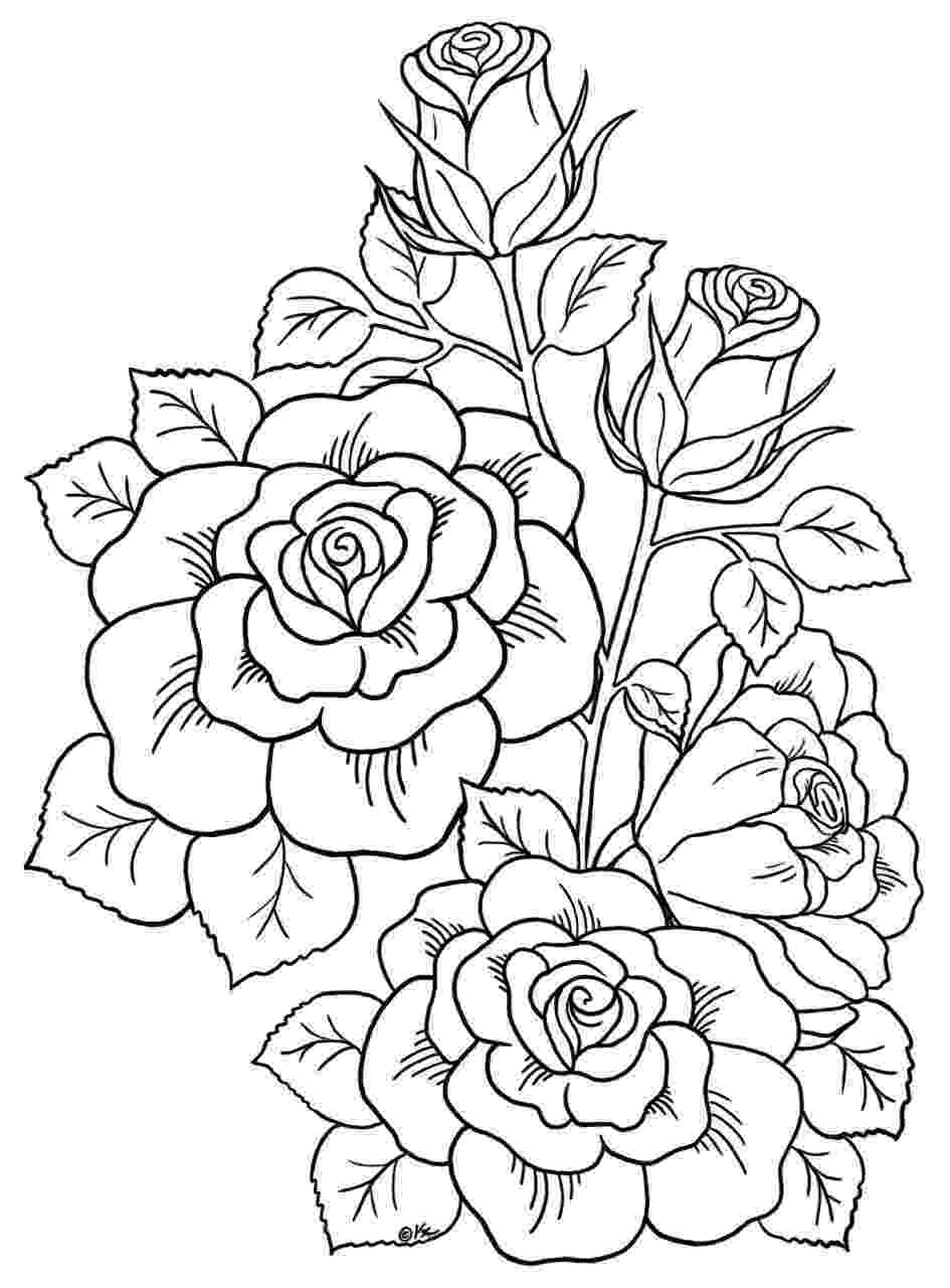 free printable coloring pages of flowers pin by carole driessen on adult coloring in pictures to coloring pages flowers printable of free