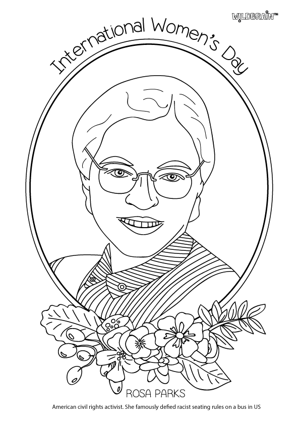 free printable coloring pages of rosa parks black history month coloring book page of african american parks coloring printable of pages free rosa