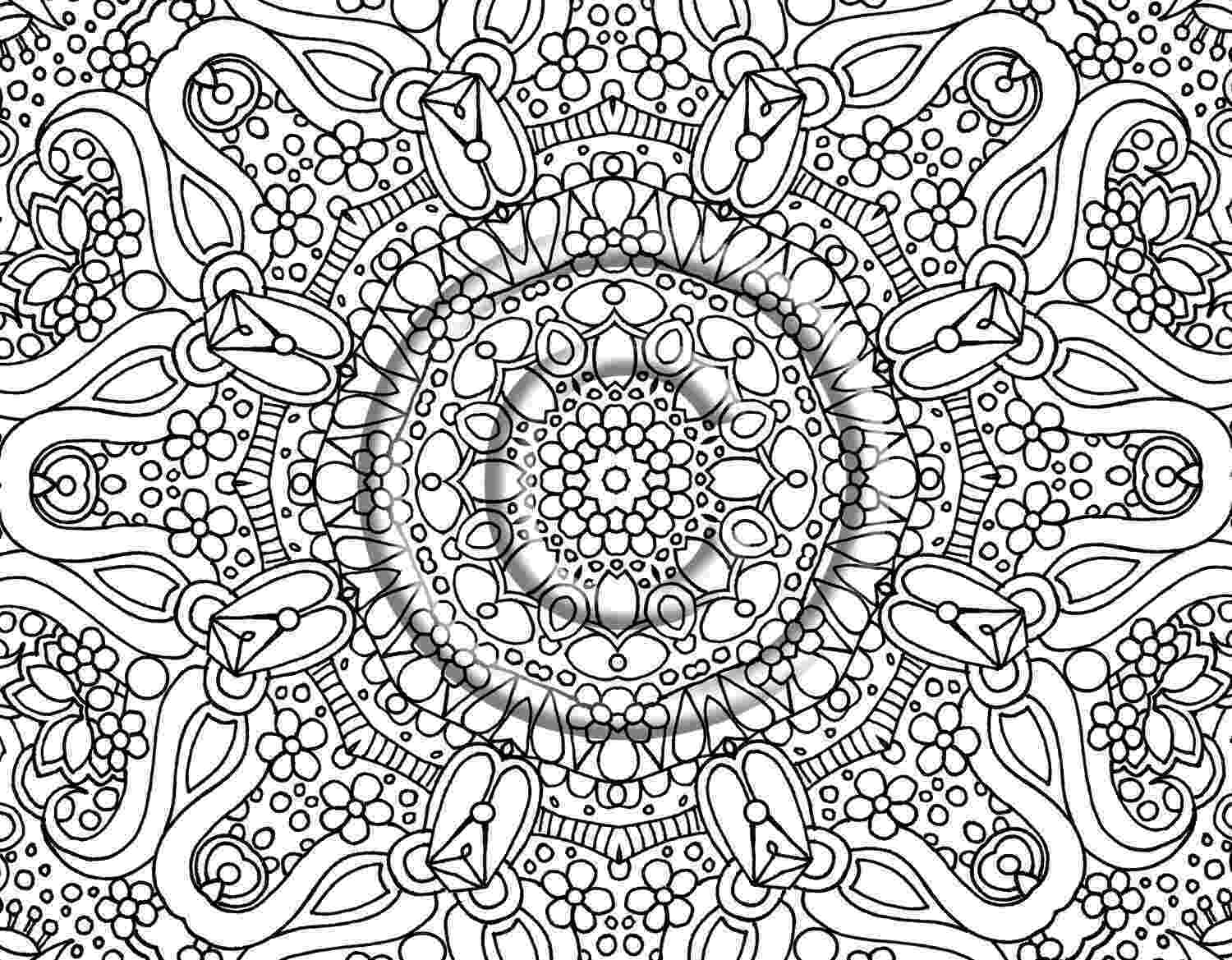 free printable detailed coloring pages free printable abstract coloring pages for adults pages free coloring detailed printable