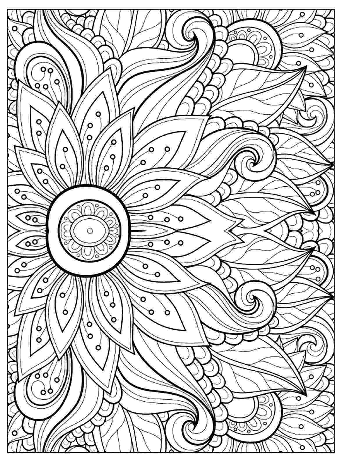 free printable flower coloring pages for adults flower with many petals flowers adult coloring pages free pages coloring printable adults flower for