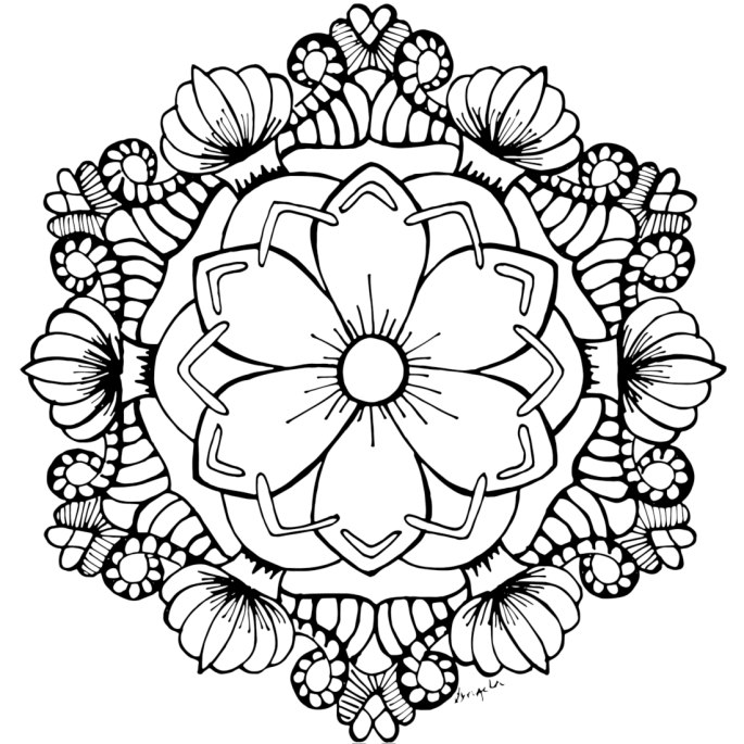 free printable flower coloring pages for adults free adult coloring pages 35 gorgeous printable coloring adults for printable flower coloring free pages