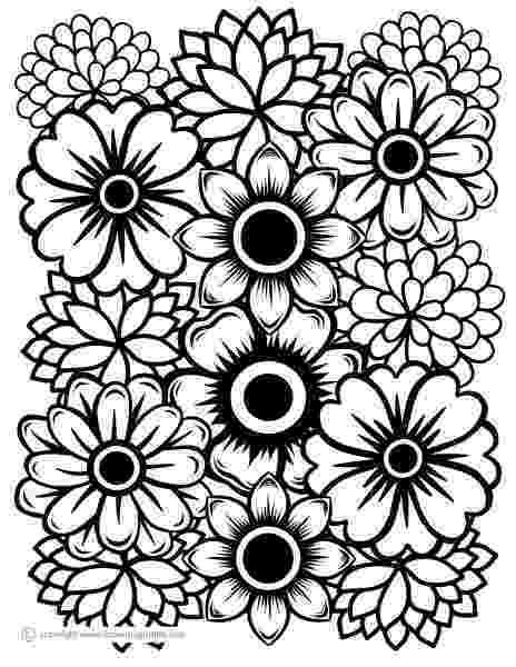 free printable flower coloring pages for adults free printable adult coloring pages quotjust flowersquot a adults coloring pages free for printable flower