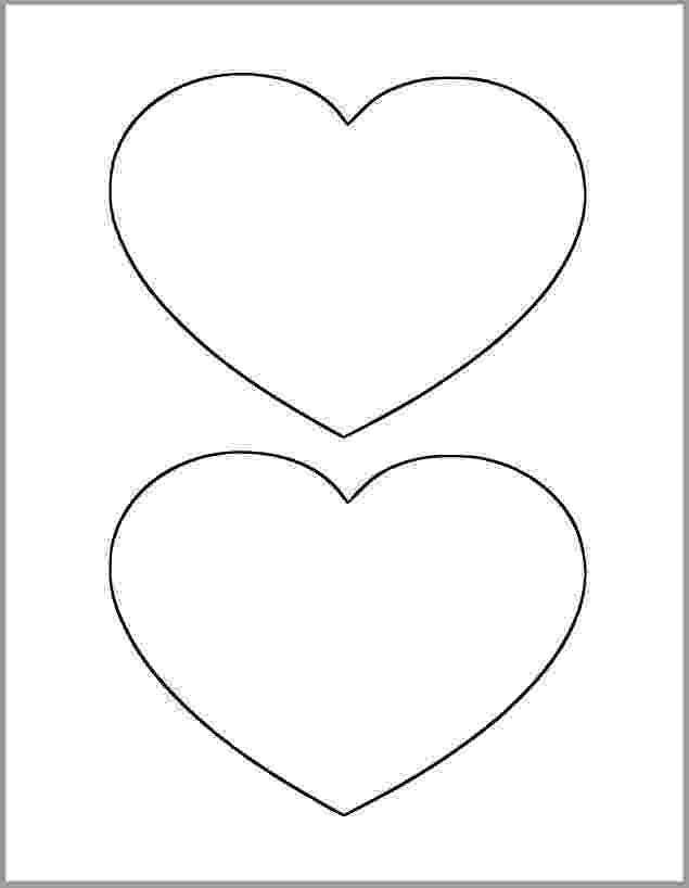 free printable hearts 6 inch heart printable template large heart cutout hearts free printable