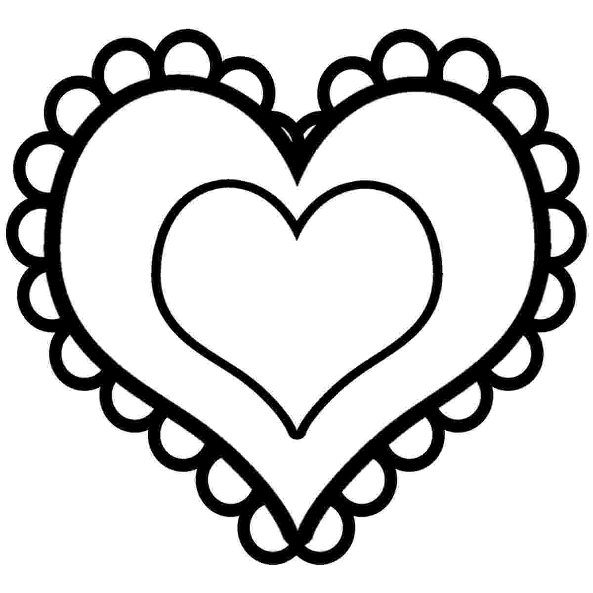 free printable hearts free printable heart coloring pages for kids hearts free printable