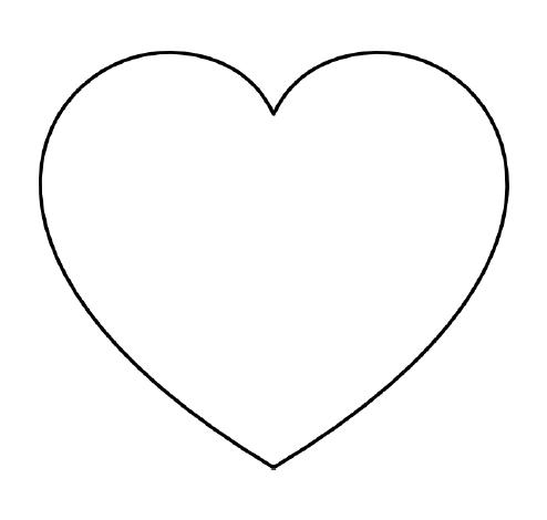 free printable hearts free printable heart templates large medium small free hearts printable 1 1