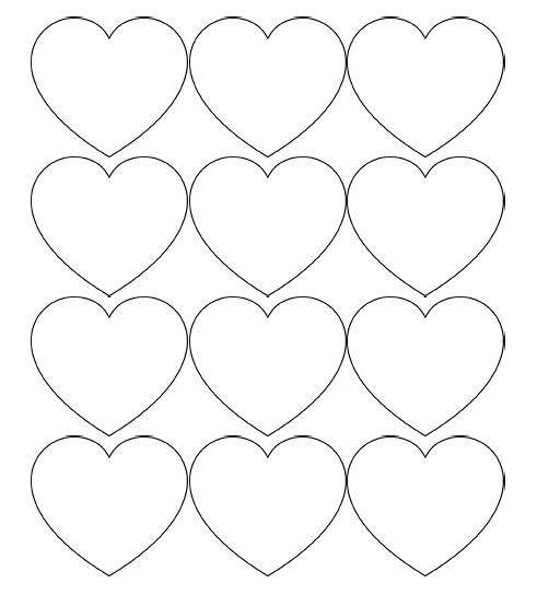 free printable hearts free printable heart templates large medium small hearts printable free