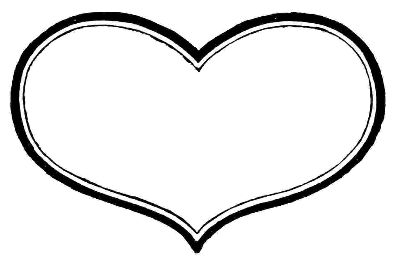 free printable hearts printable heart shapes tiny small medium outlines free hearts printable