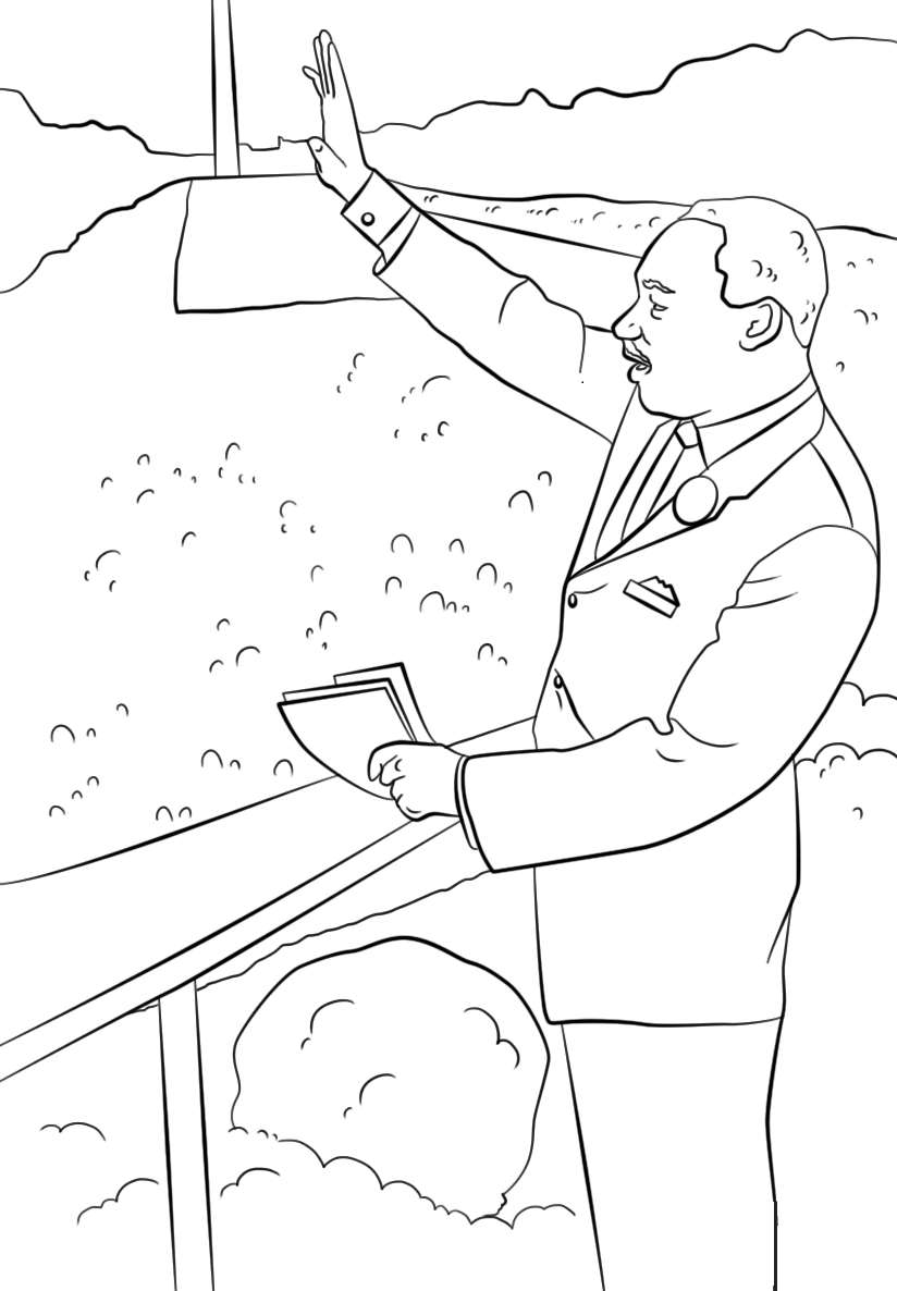 free printable martin luther king coloring pages free martin luther king coloring page black history tpt luther pages printable martin king free coloring