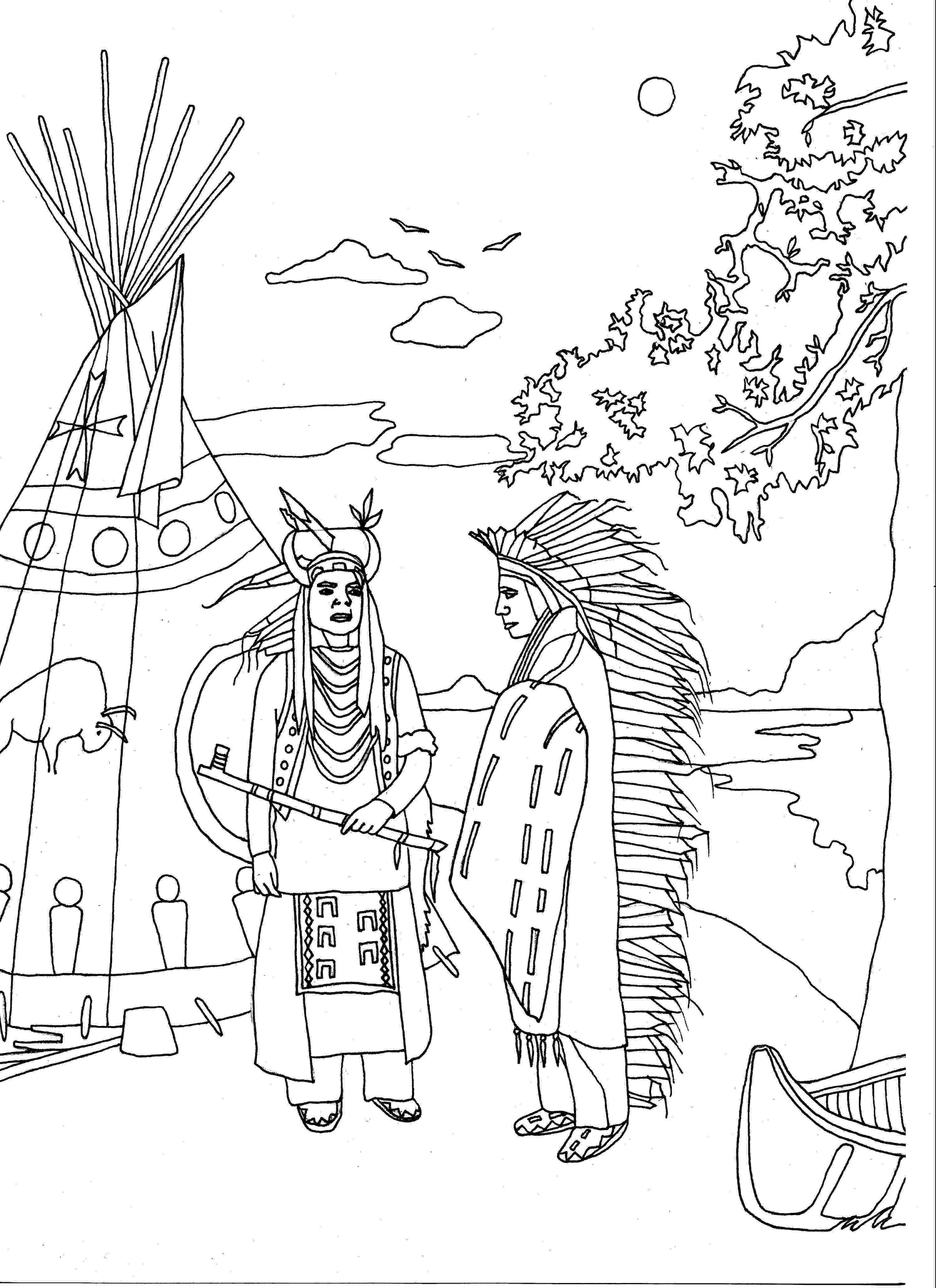 free printable native american coloring pages free coloring page coloring adult two native americans by pages free native coloring printable american