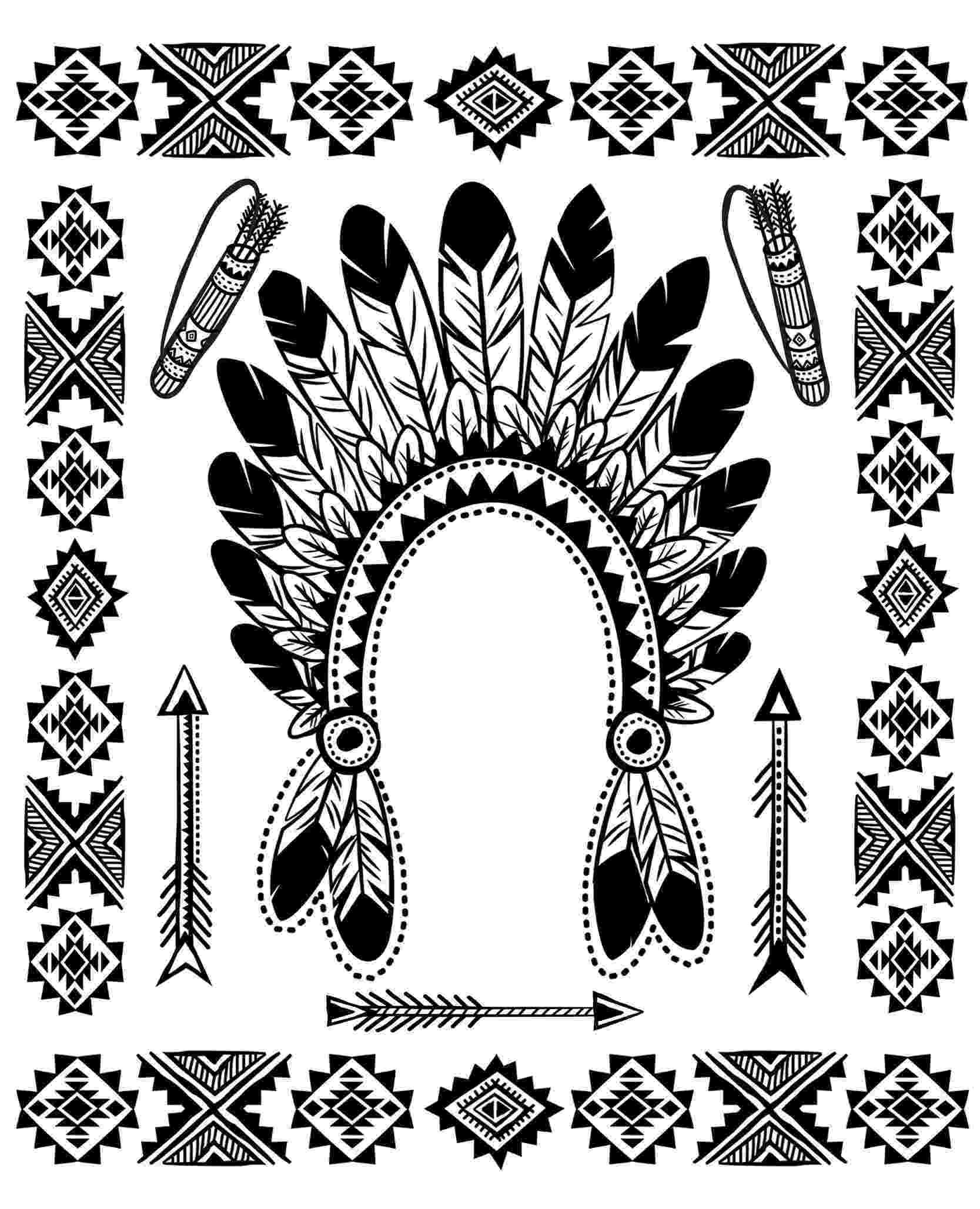 free printable native american coloring pages native american symbols coloring pages getcoloringpagescom coloring american pages free native printable