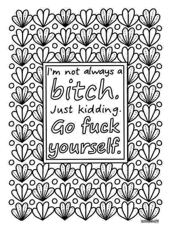 free printable quote coloring pages for adults sassy sayings printable coloring book for adults curse printable adults pages for free coloring quote