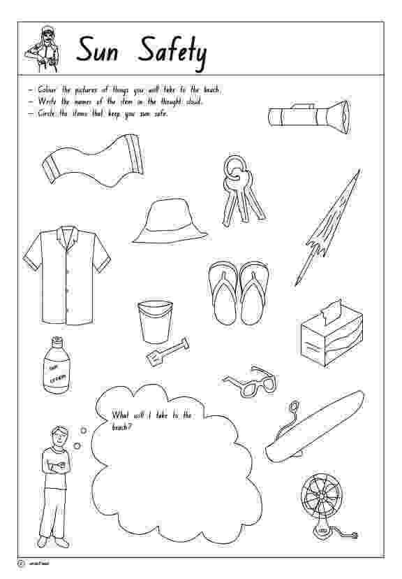 free printable summer safety coloring pages image of hot day colouring page summer safety activities printable summer coloring safety pages free