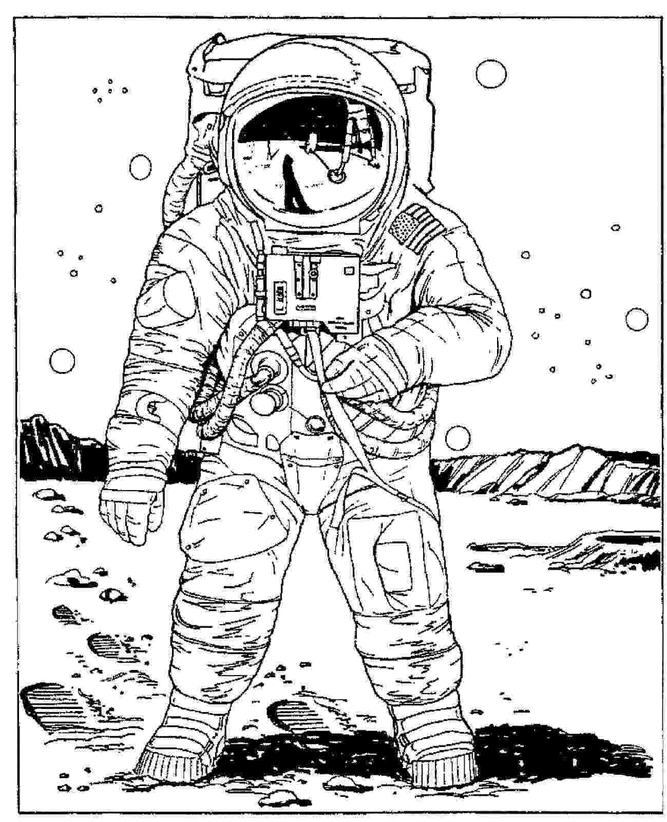 free space printables coloring pages astronaut coloring pages for preschool astronauts space coloring free printables pages