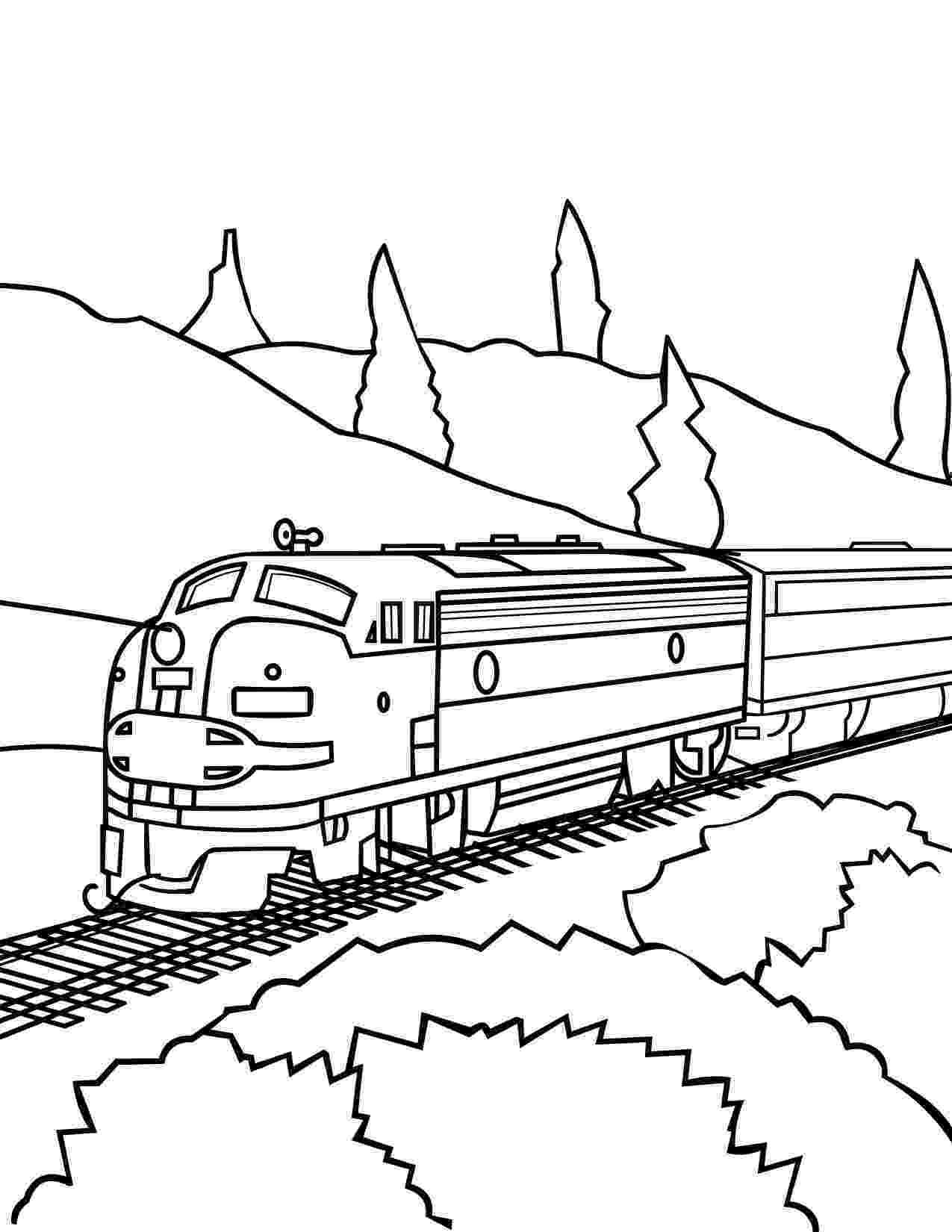 free train coloring pages train coloring pages getcoloringpagescom train coloring pages free