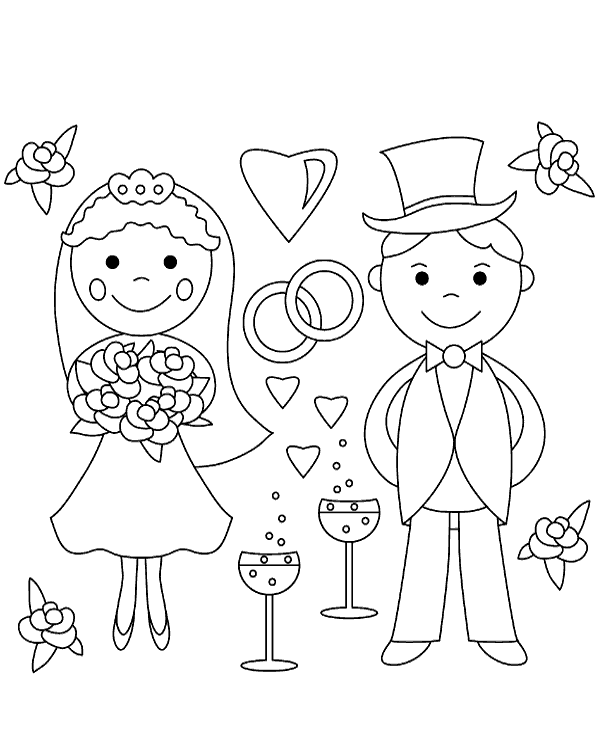 free wedding coloring pages to print free printable wedding activity pages kids coloring home free wedding coloring print to pages