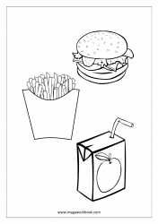 french fries coloring page coloring cute paper bag with french fries stock vector coloring fries french page