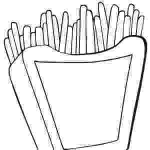 french fries coloring page food theme coloring and tracing pages coloring french fries page