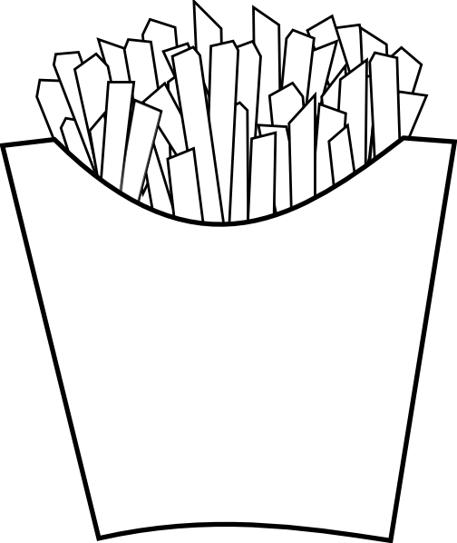 french fries coloring page frenchfries free coloring pages fries french page coloring
