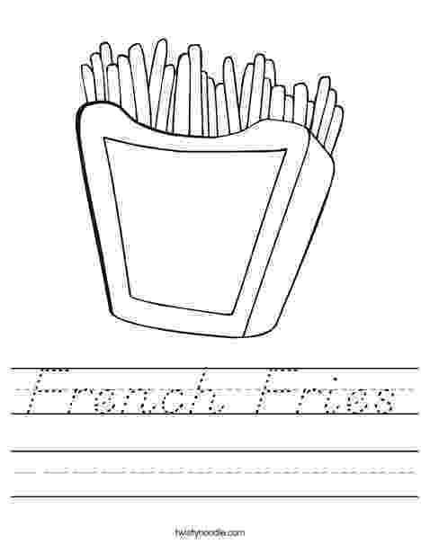 french fries coloring page fruit coloring pages vegetable coloring pages food coloring fries french page