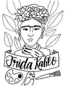 frida kahlo printable coloring pages frida kahlo coloring pages at getcoloringscom free kahlo frida printable pages coloring