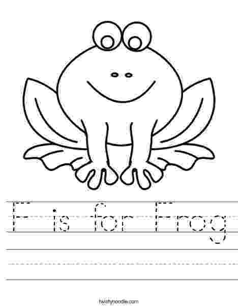 frog color by number f is for frog worksheet twisty noodle color number by frog
