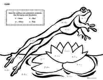 frog color by number frog math ideas number color by frog
