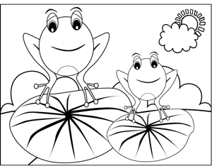 frog color by number frogs on lilypads coloring page color frog by number