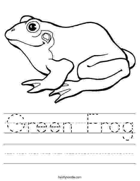frog color by number green frog worksheet twisty noodle number frog color by