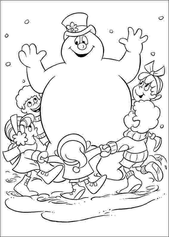frosty coloring pages free printable frosty the snowman coloring pages best frosty pages coloring