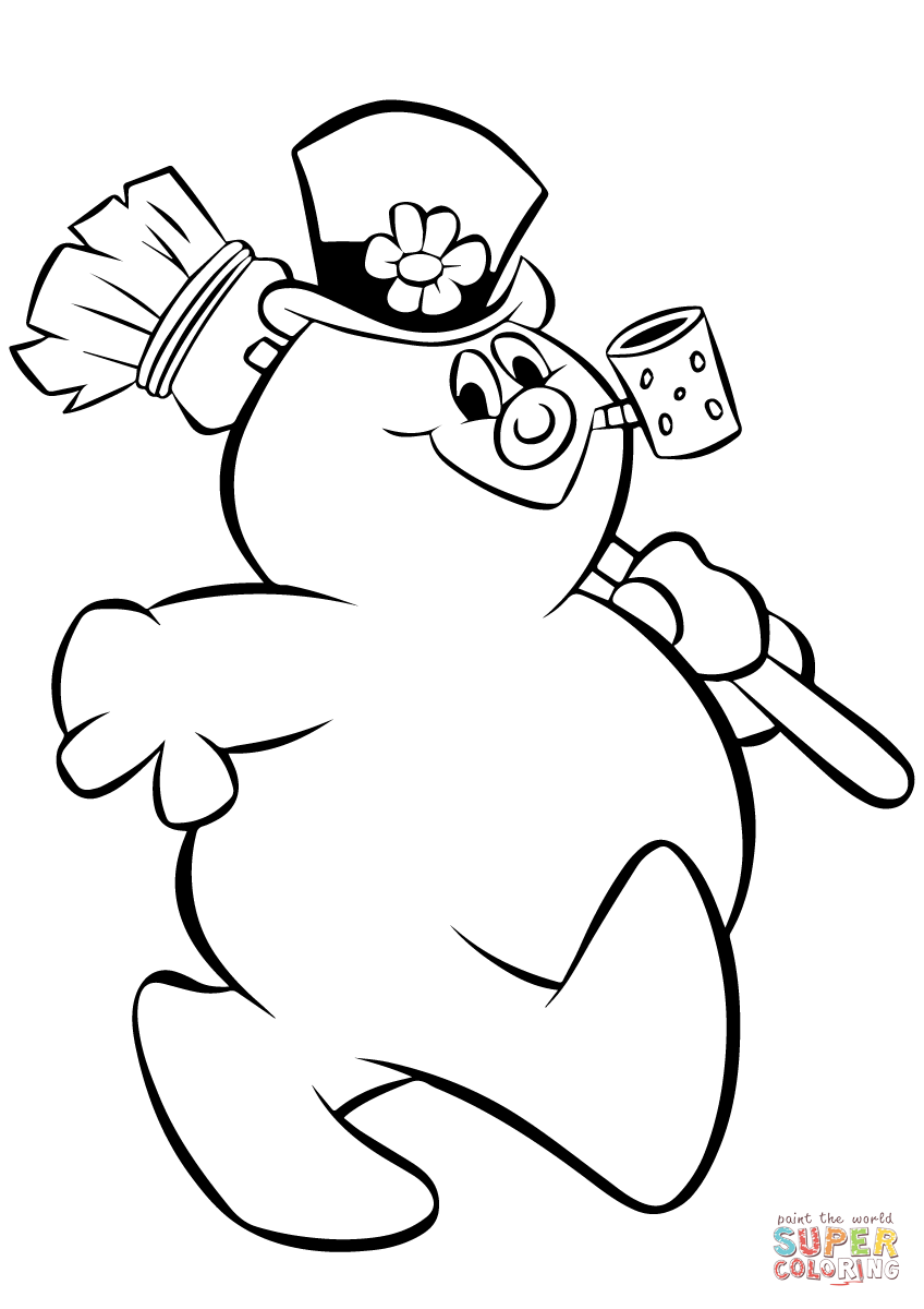 frosty the snowman coloring pages printable frosty the snowman coloring pages getcoloringpagescom frosty the snowman coloring pages printable