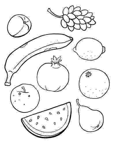 fruits coloring sheets basketful to color crafts fruit and vegetables sheets fruits coloring