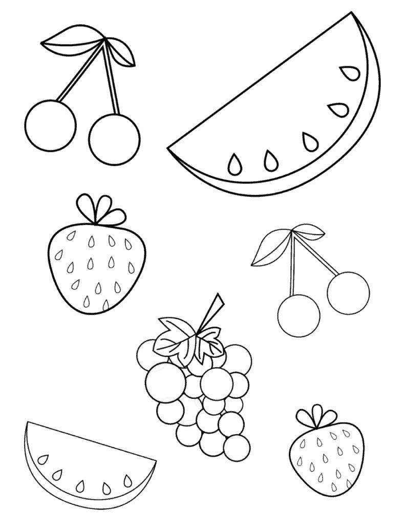 fruits coloring sheets fruits coloring sheet pictures fruits sheets coloring