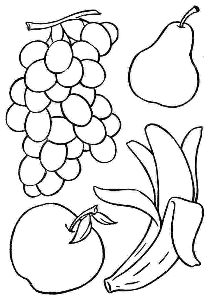 fruits coloring sheets fruits drawing at getdrawings free download sheets fruits coloring