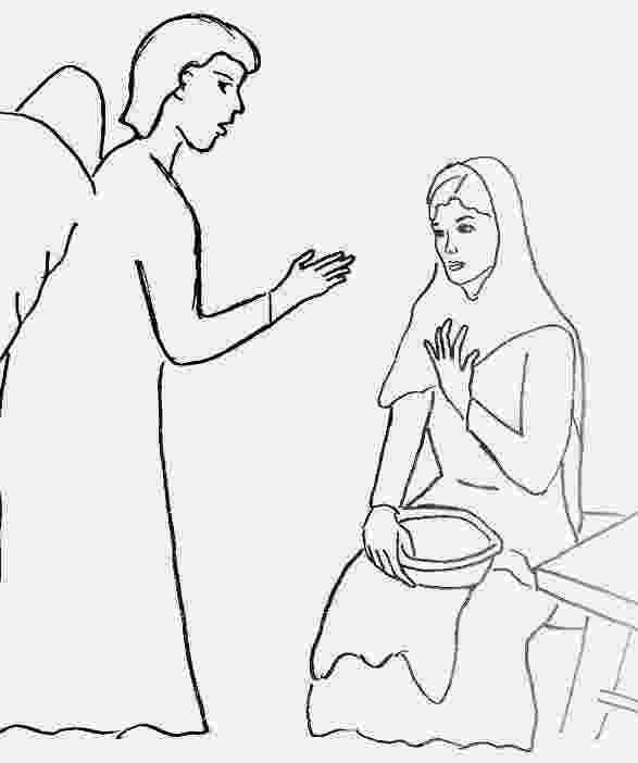 gabriel visits mary coloring page 13 angel gabriel coloring page bible story coloring page page gabriel mary visits coloring