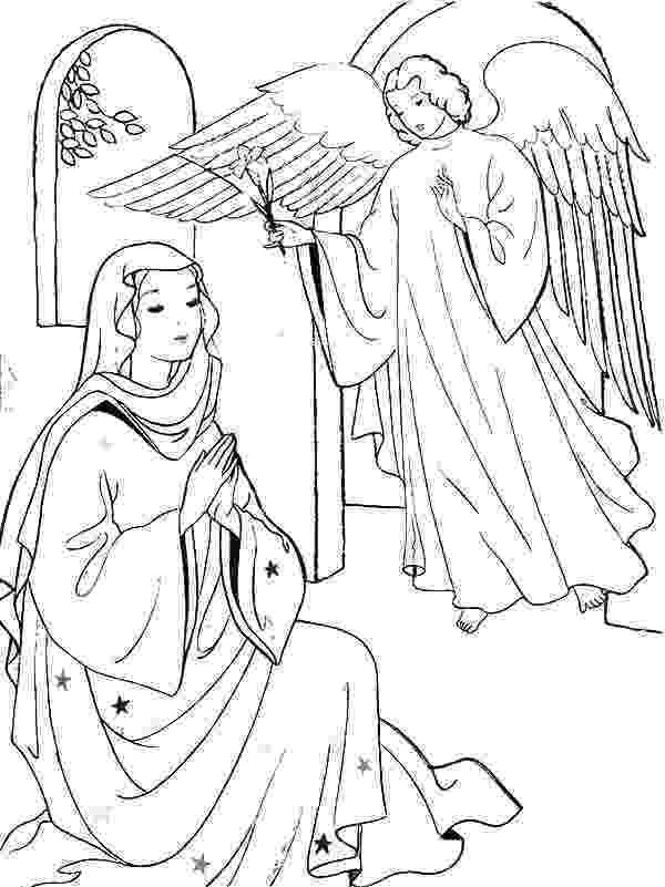 gabriel visits mary coloring page 34 angel visits joseph coloring page perfect angel visits page mary coloring gabriel