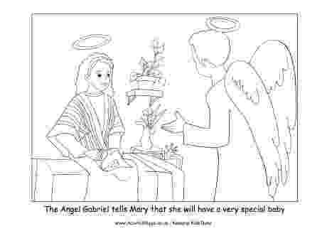 gabriel visits mary coloring page angel visits mary page coloring pages coloring page gabriel mary visits