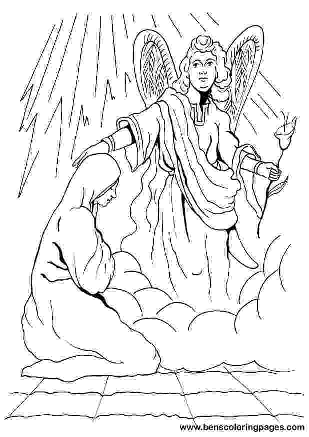 gabriel visits mary coloring page bible story coloring page for angel gabriel visits mary mary page coloring visits gabriel