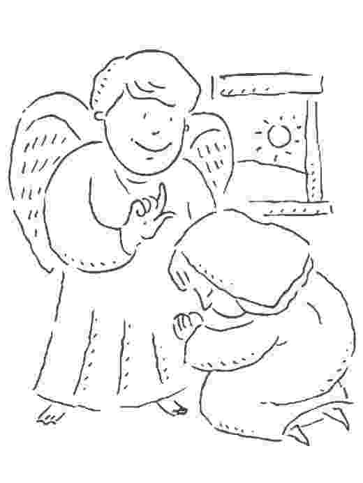 gabriel visits mary coloring page bible story coloring page for angel gabriel visits mary page visits coloring gabriel mary