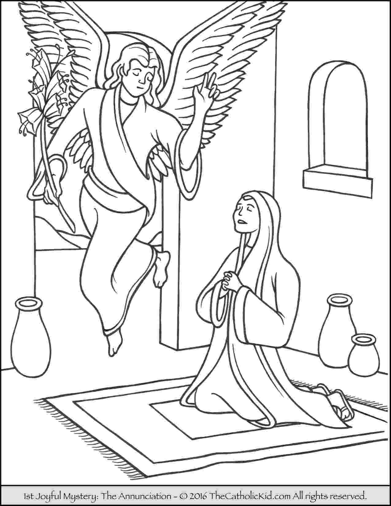 gabriel visits mary coloring page gabriel visits mary coloring page gabriel visits mary coloring page