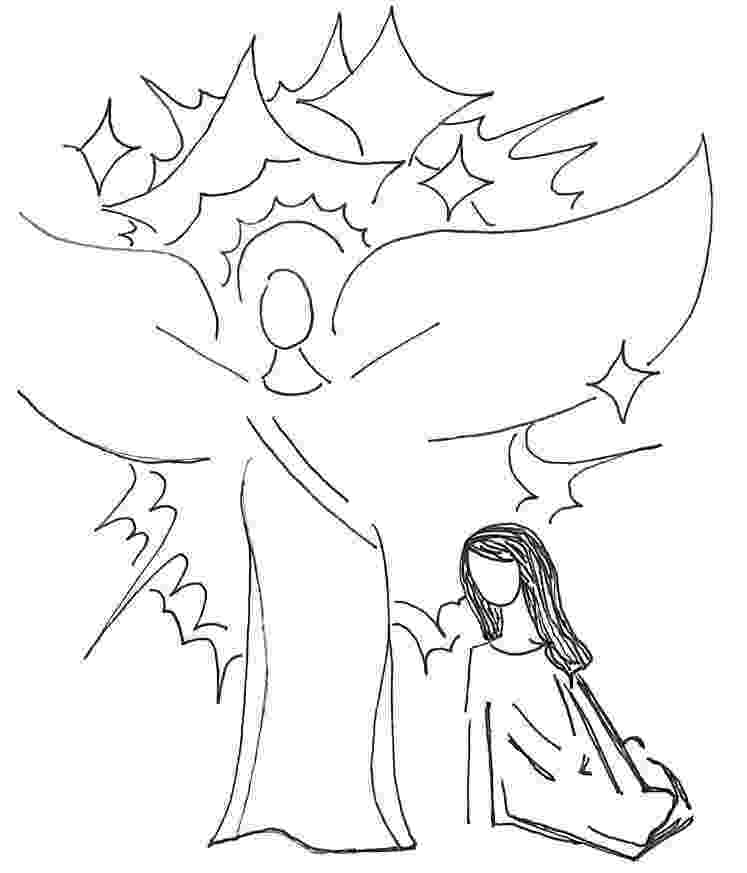 gabriel visits mary coloring page mary and angel coloring page coloring home mary gabriel coloring visits page