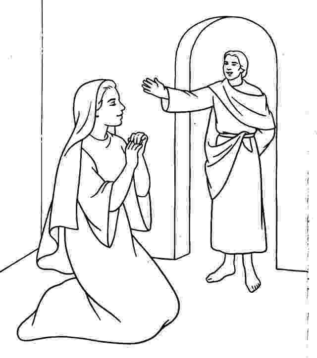 gabriel visits mary coloring page mary and angel page coloring pages mary page visits gabriel coloring