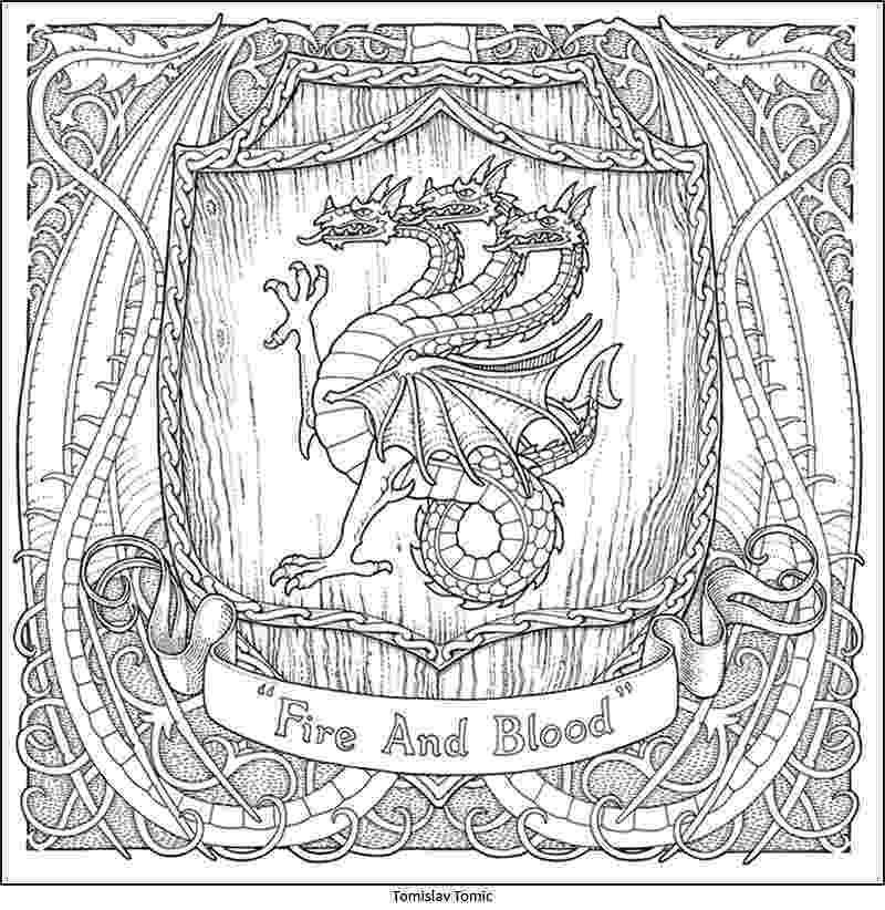 game of thrones coloring pages the official a game of thrones colouring book pages thrones game coloring of