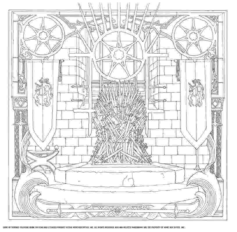 game of thrones coloring pages the official game of thrones colouring book really isn39t thrones of game pages coloring