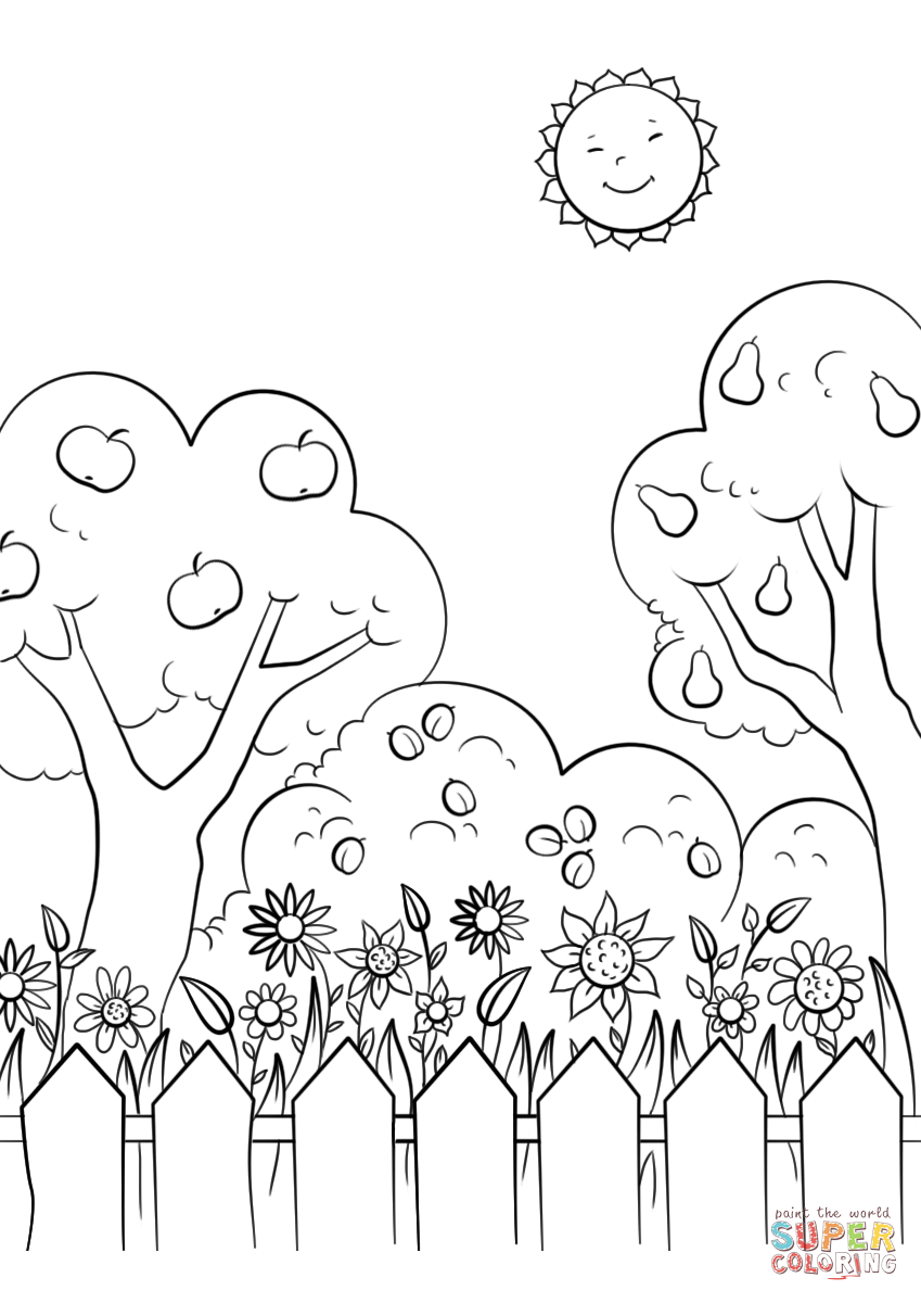 gardening colouring pages beautiful garden coloring page free printable coloring pages gardening pages colouring