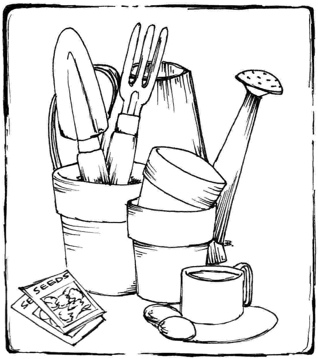 gardening colouring pages beccy39s place gardening items gardening colouring pages