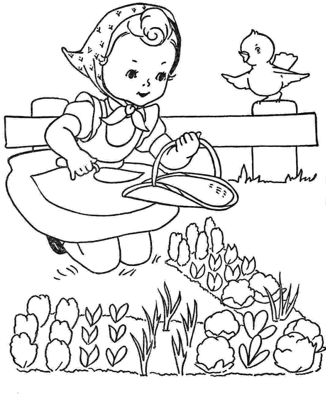 gardening colouring pages favorite paint book little girls q is for quilter colouring pages gardening